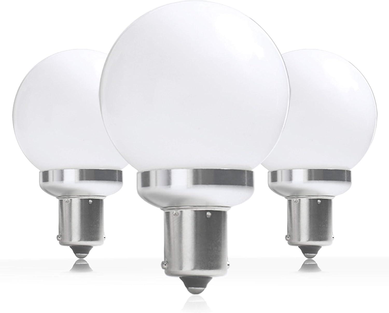 Leisure LED 12 Volt RV Led Light Bulbs BA15s 20-99/1141 1156 12V Vanity Replacement Bulbs for 5th Wheel Camper Trailer Motorhomes Marine Boat Interior Light Bulb 3000K Warm White 3 Pack(Warm White)