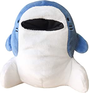 CLEVER IDIOTS INC SAMEZU Shark Plush Stuffed Animal - Cute, Collectible and Cuddly Toy Character - 6.5 inch - Authentic Japanese Kawaii Design (Jinbe)