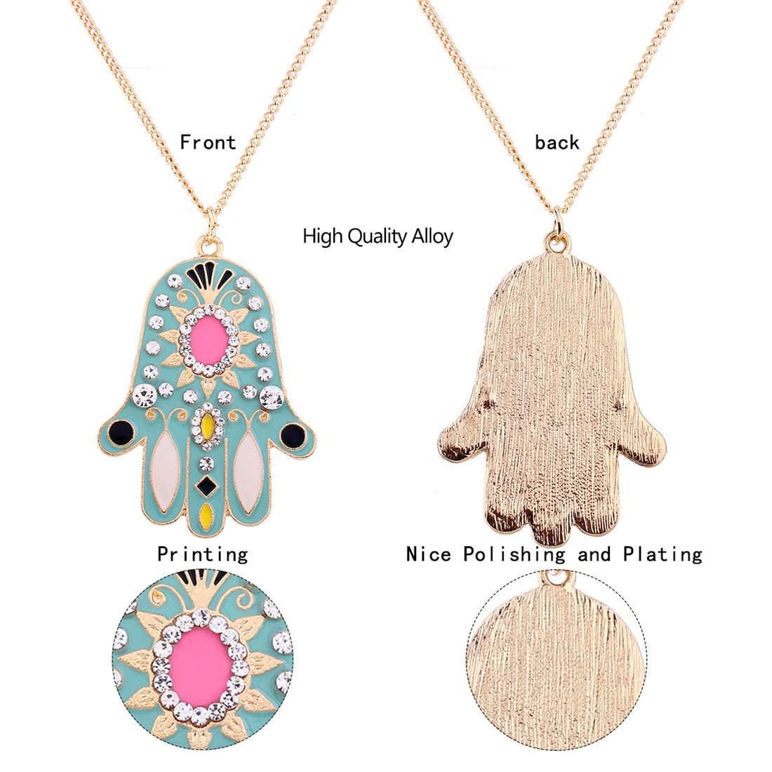 Fashion Cute Add Color to Your Clothes Szolno Necklace Pendant