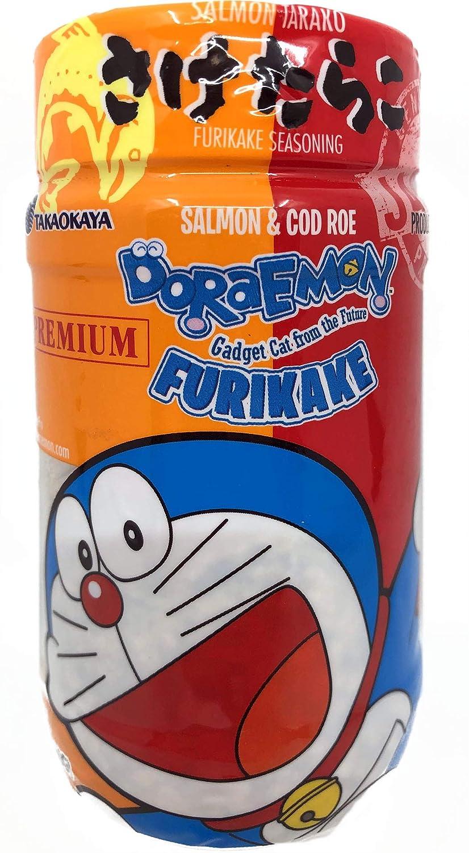Sake Tarako (Salmon & Cod Roe) Furikake Rice Seasoning 2.1Oz, Product of Japan, Pack of 1