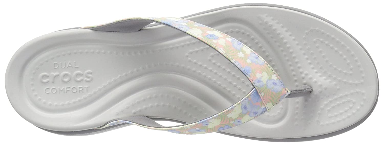 d3489e64e Crocs Women s Capri V Graphic Flip W FLR LGR Open Back Slippers   Amazon.co.uk  Shoes   Bags