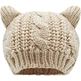 Bellady Women's Hat Cat Ear Crochet Braided Knit Caps
