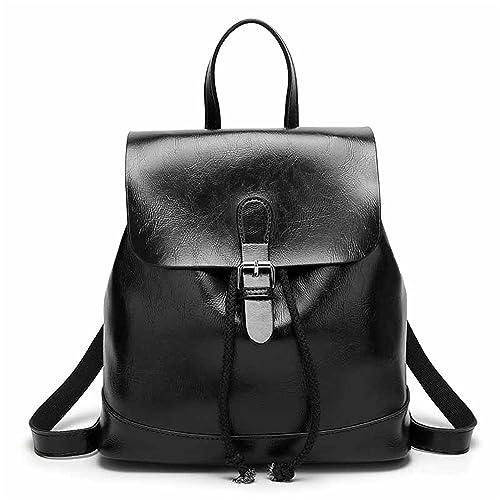 691d3140447 Amazon.com  Women Leather Backpack Vintage Female Bagpack Schoolbag Backbag  Dos Femme En Cuir Etudiant NEW black  Shoes