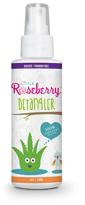 Hair Detangler Spray for Kids. Made with Organic Aloe Vera Juice and Natural Vitamins to Hydrate. Organic Detangler and Leave In Conditioner for Children & Adults. No Chemicals or Fragrance. USA Made. Best Kids' Detangling Products