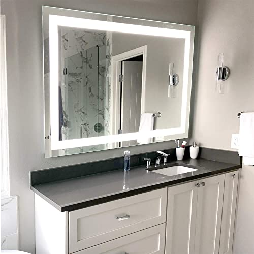 LED Front-Lighted Bathroom Vanity Mirror 32 Wide x 24 Tall – Commercial Grade – Rectangular – Wall-Mounted