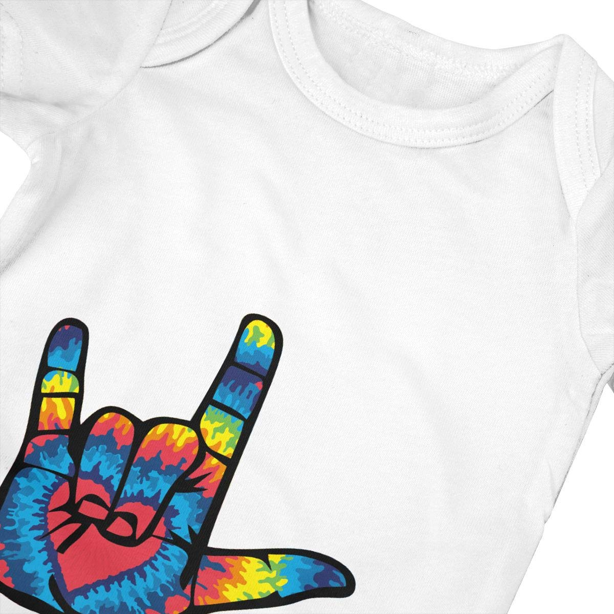 ASL I Love You Sign Language Baby Onesies Infant Clothes Bodysuit Jumpsuit Rompers Outfits