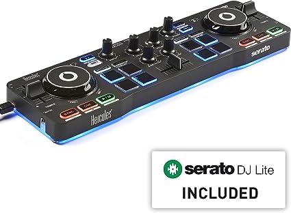 Amazon.com: Hercules DJControl Starlight | Controlador de DJ ...