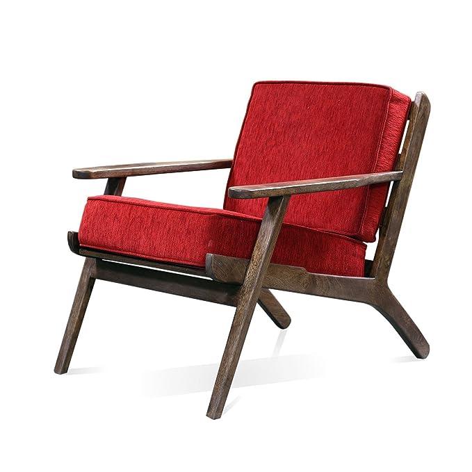 Homescapes Marrón Vidia sillón con extraíble Chenille 100 ...