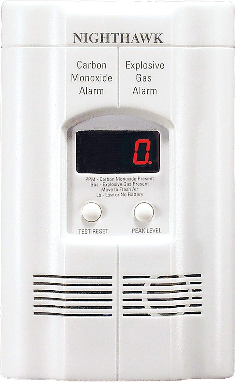 Kidde AC Plug-in Carbon Monoxide and Explosive Gas Detector Alarm | Nighthawk Sensor Technology | Model # KN-COEG-3