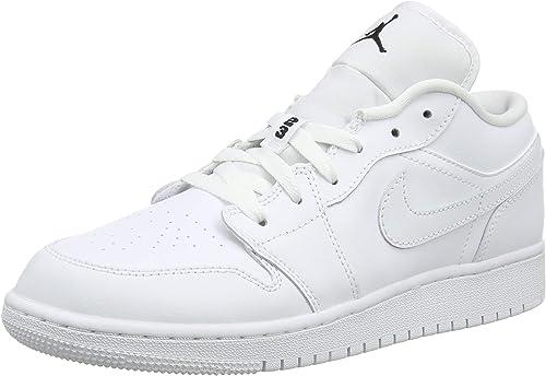 Nike Air Jordan 1 Low BG, Chaussures de Basketball garçon