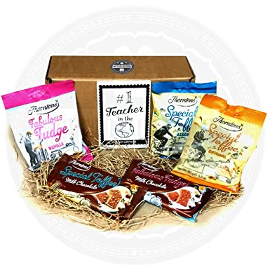 Thorntons Number 1 Teacher in the World Gift Box - Perfect for End of Year Gift To ...