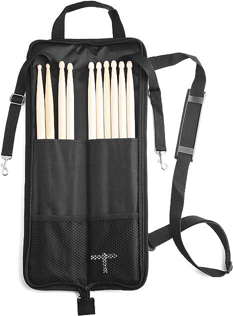 Bolsa para baquetas, con llave de batería (negro): Amazon.es: Instrumentos musicales