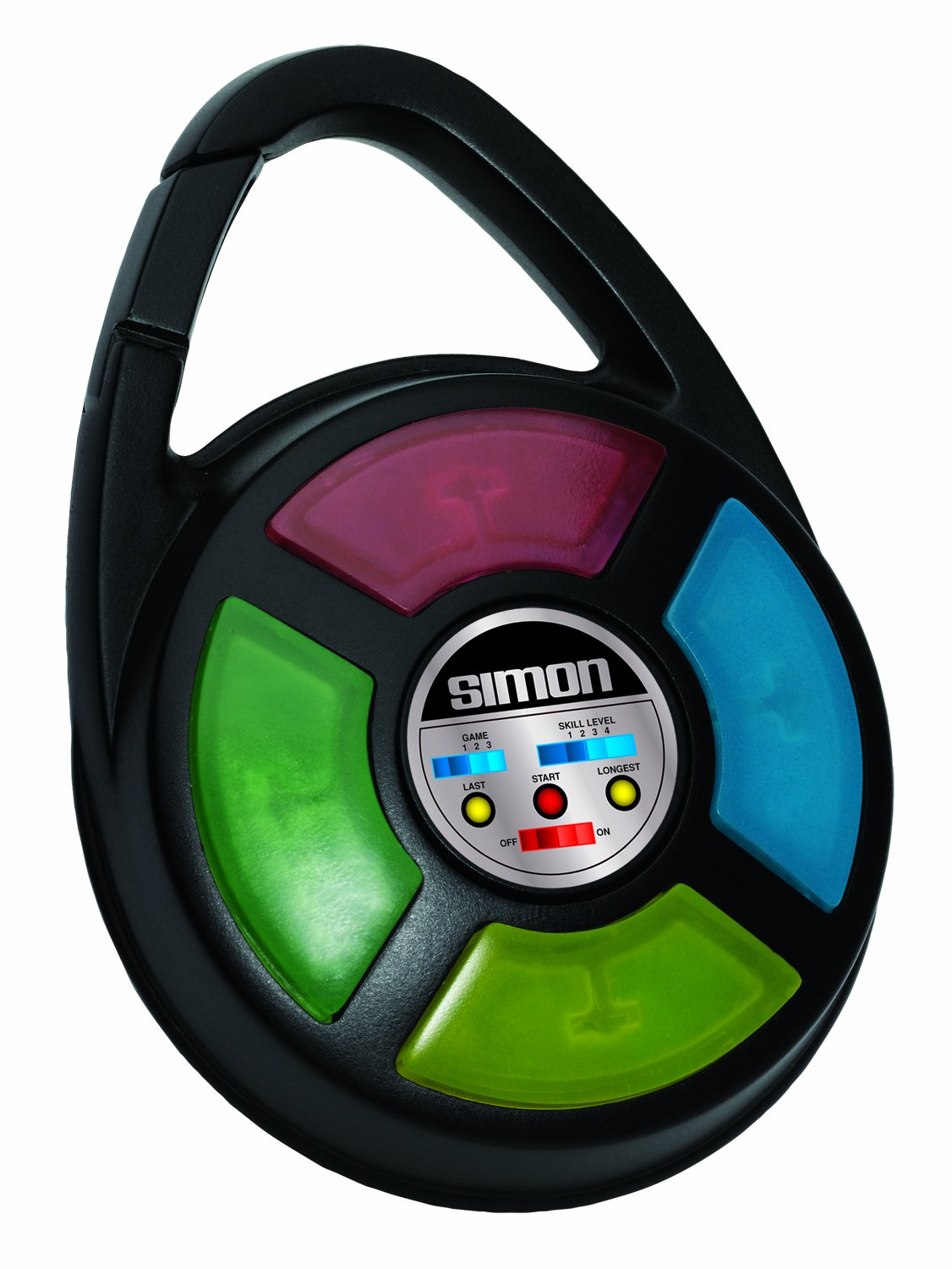 Simon Electronic Carabiner Hand Held Game by Basic Fun