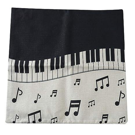 Funda de cojín con diseño de Notas Musicales de Dolland ...