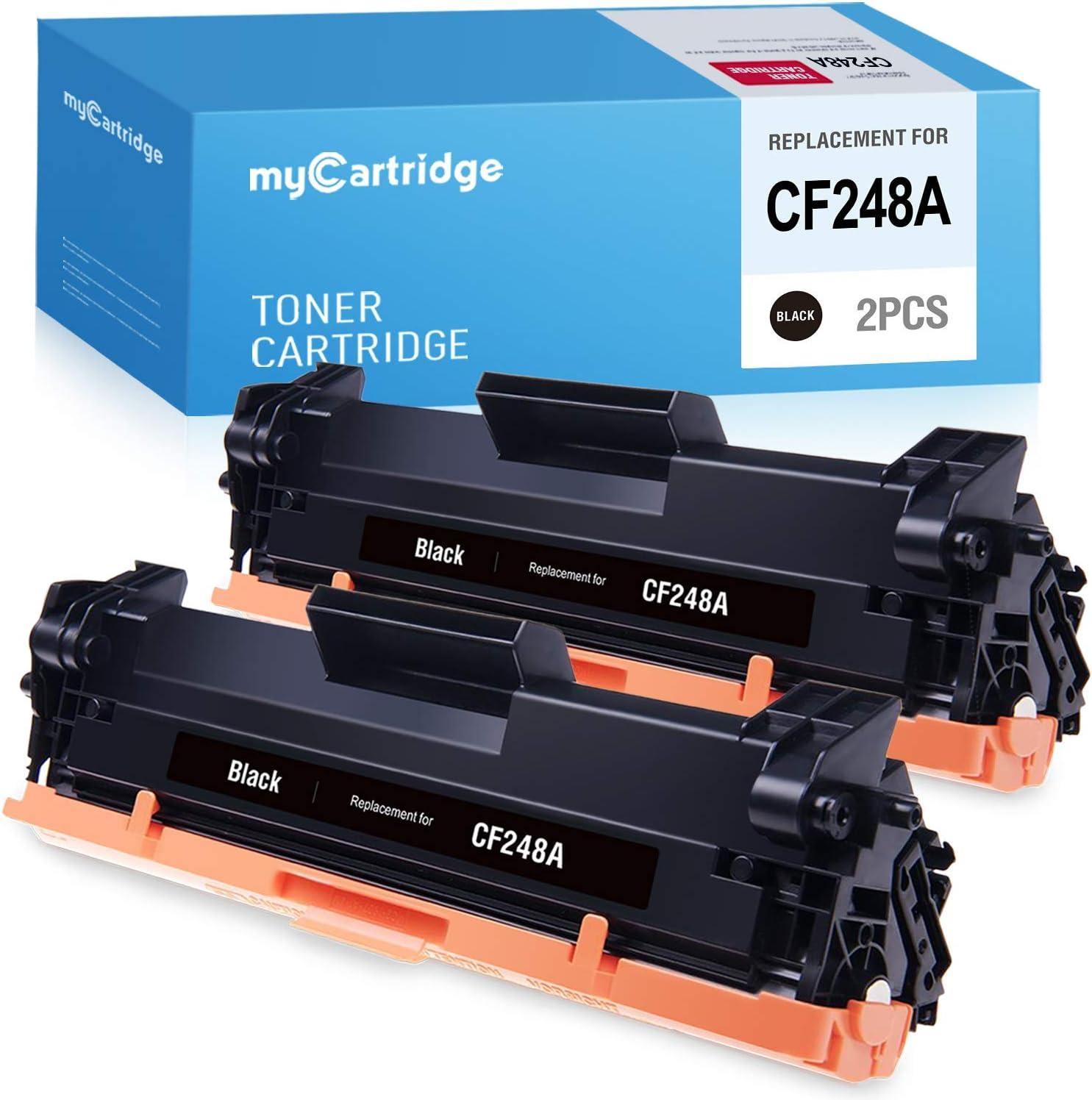 myCartridge Compatible Toner Cartridge Replacement for HP 48A CF248A M28w M15w Laserjet Pro MFP M29w M28a M29a M16a M15a M16w Printer Ink (Black,2-Pack)