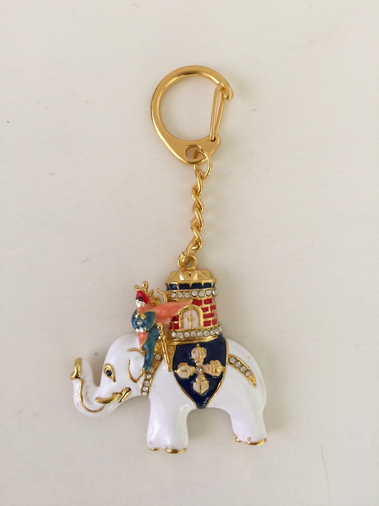 Feng Shui Power Elephant with Warrior Keychain Amulet USA Seller by Mylucky (Image #1)
