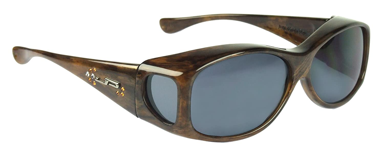 22f144550a Amazon.com  Fitovers Eyewear Glides Sunglasses with Swarovski Elements on  temples (Brown