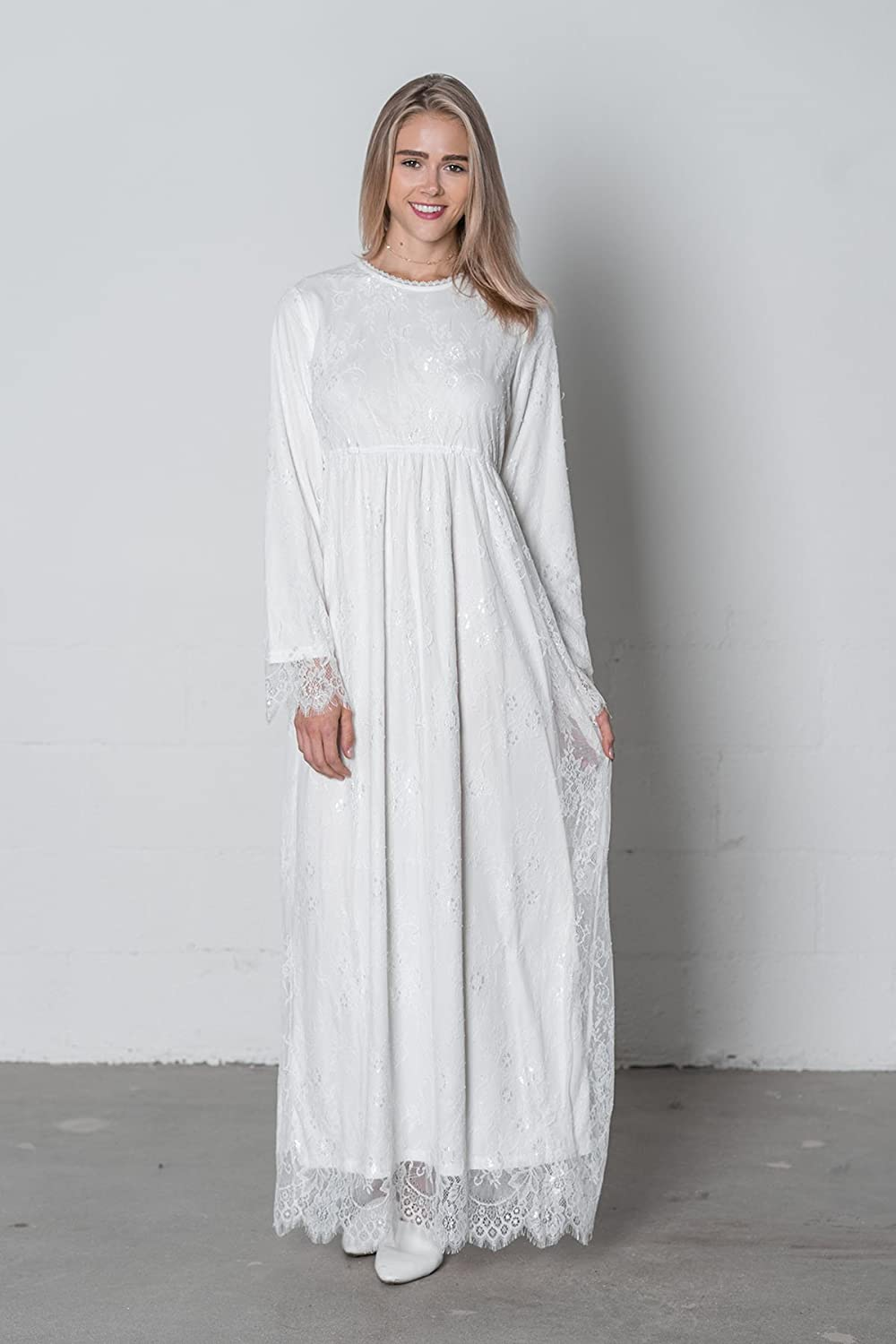 Edwardian Ladies Clothing – 1900, 1910s, Titanic Era ModWhite White Jasmine Dress $74.00 AT vintagedancer.com