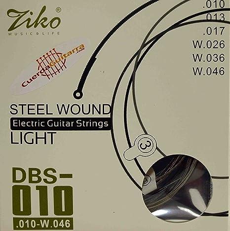 2 Juegos de cuerdas marca ZIKO para Guitarra Eléctrica MOD. DBS-010 calibre: