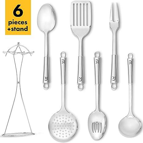 Amazon.com: Klee - Juego de 6 utensilios de cocina de acero ...
