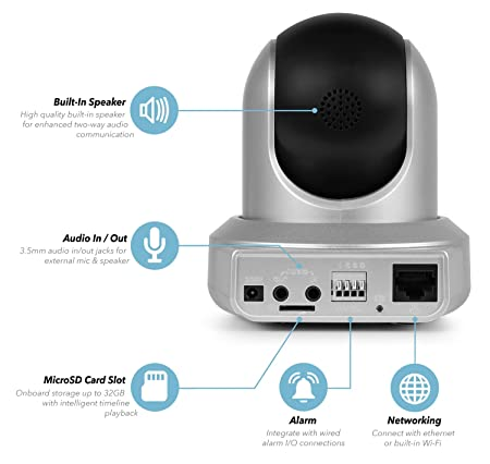Amcrest HDSeries 720P WiFi Wireless IP Security Surveillance Camera System – HD Megapixel 720P (1280TVL), IPM-721S (Silver)
