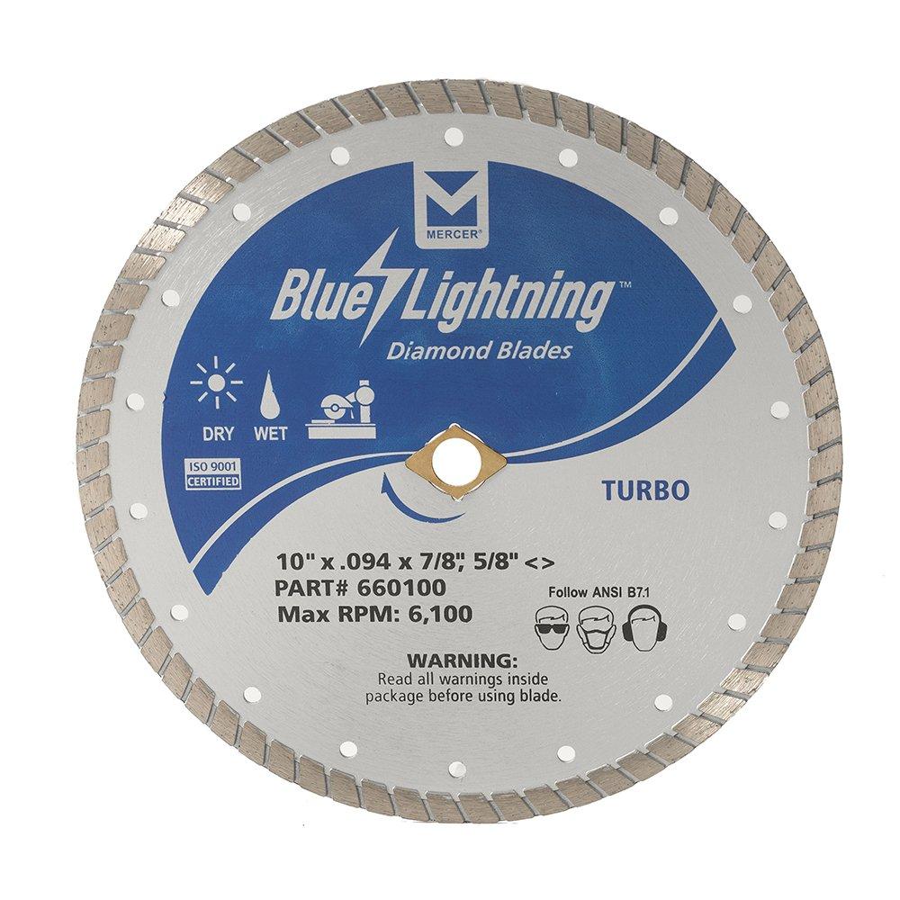 Disco de Diamante MERCER turbo Blue Lightning 660100 10 x .094 x 7/8 5/8 con corte