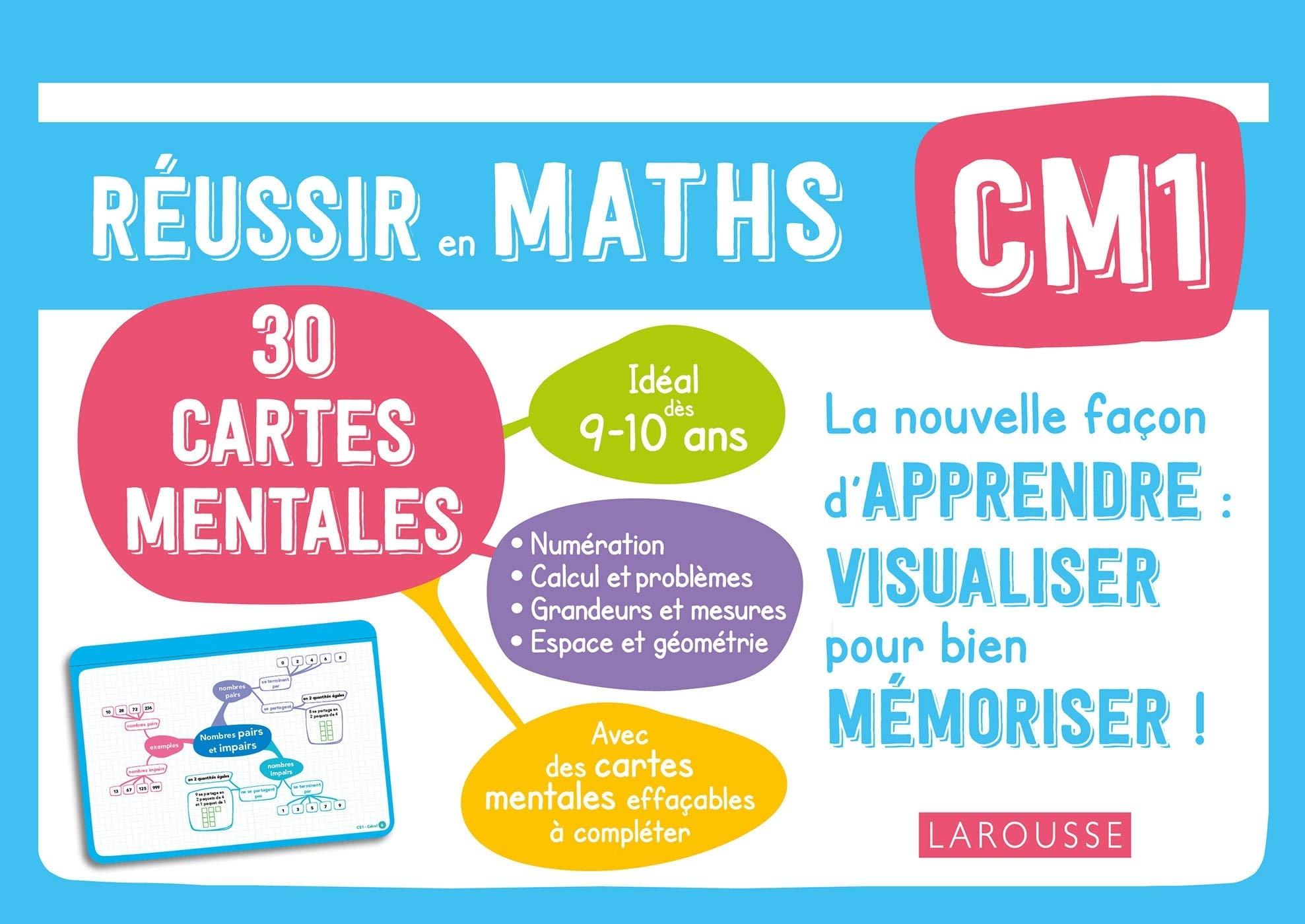 30 cartes mentales à compléter : Maths - CM1