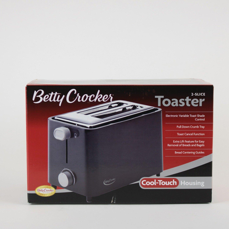 Betty Crocker BC-2605CB RA28686 2-Slice Toaster Black