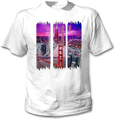 teesquare1st San Francisco USA Camiseta Blanca para Hombre de Algodon: Amazon.es: Ropa y accesorios