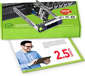 WORKDONE 2.5 inch Hard Drive Caddy DXD9H Compatible for Dell PowerEdge Servers - 14th Generation R440 R640 R740 R740xd R840 R940 R6415 R7415 R7425 - Bright LED SSD SAS NVMe Tray - Setup with Manual