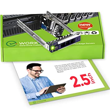 WorkDone 2 5 inch Hard Drive Caddy DXD9H Compatible for Dell PowerEdge  Servers - 14th Generation R440 R640 R740 R740xd R840 R940 R6415 R7415 R7425  -