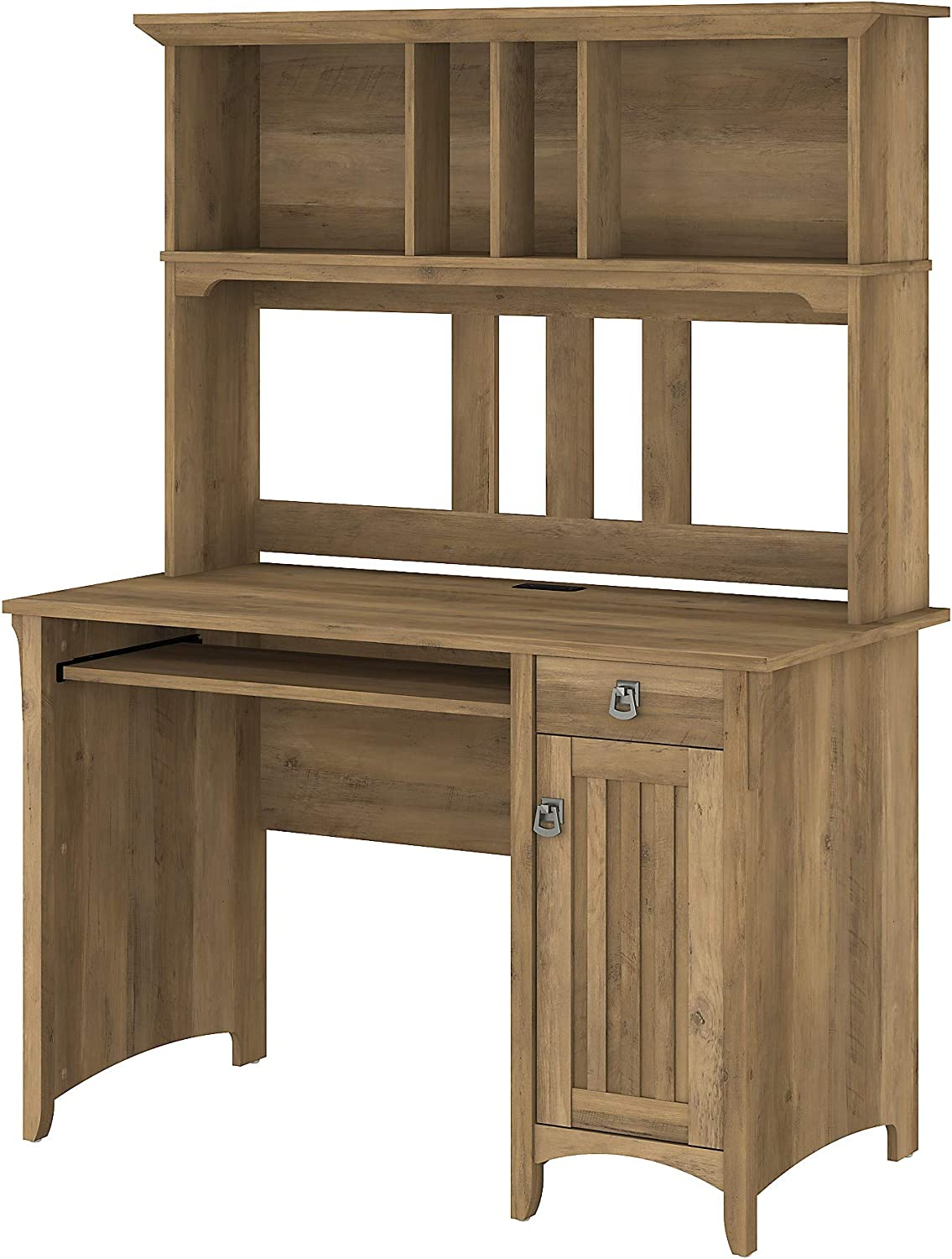 Bush Furniture Salinas Small Computer Desk with Hutch, Reclaimed Pine
