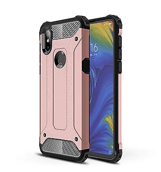 AOBOK Funda Xiaomi Mi Mix 3, Oro Rosa Moda Armadura Híbrida ...