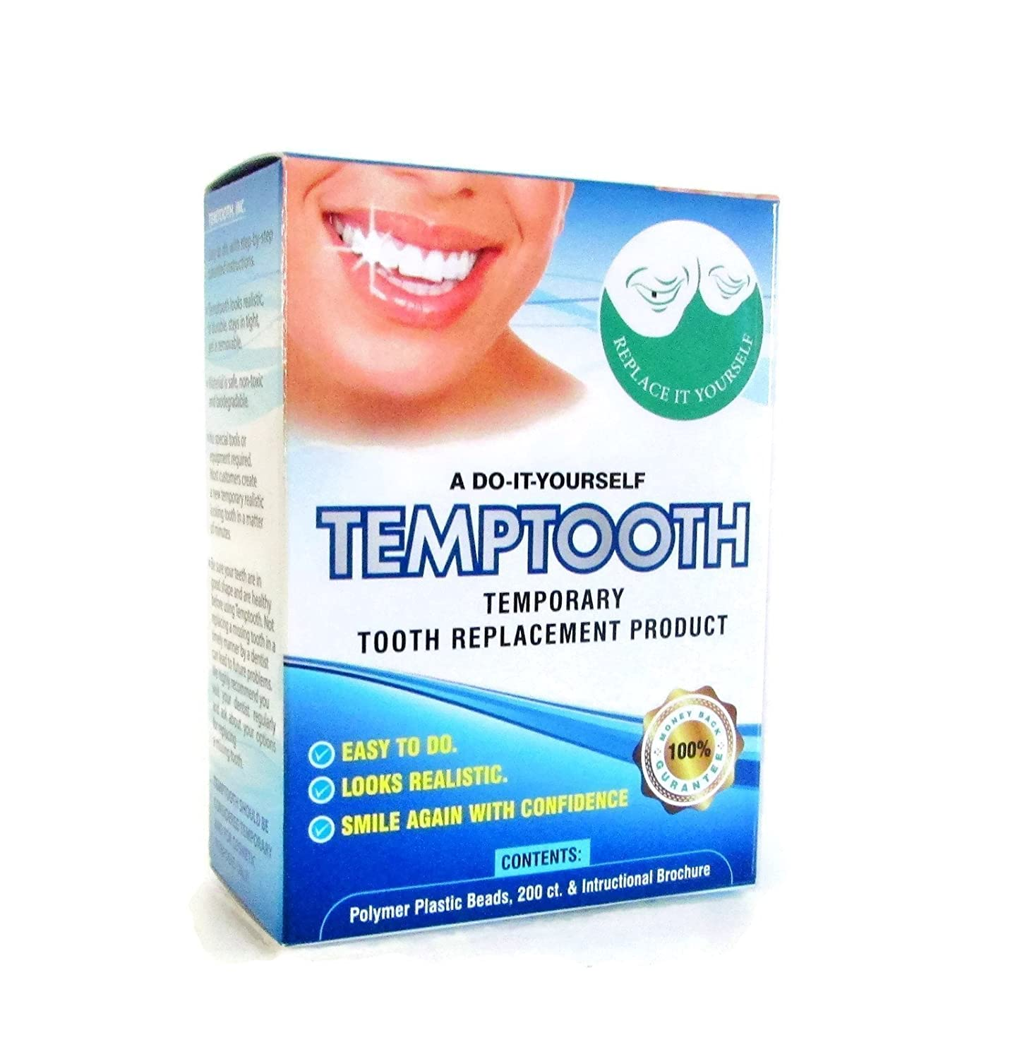 Temptooth #1 Seller Trusted Patented Temporary Tooth Replacement Product, 3.8 L 3.8 L 1425