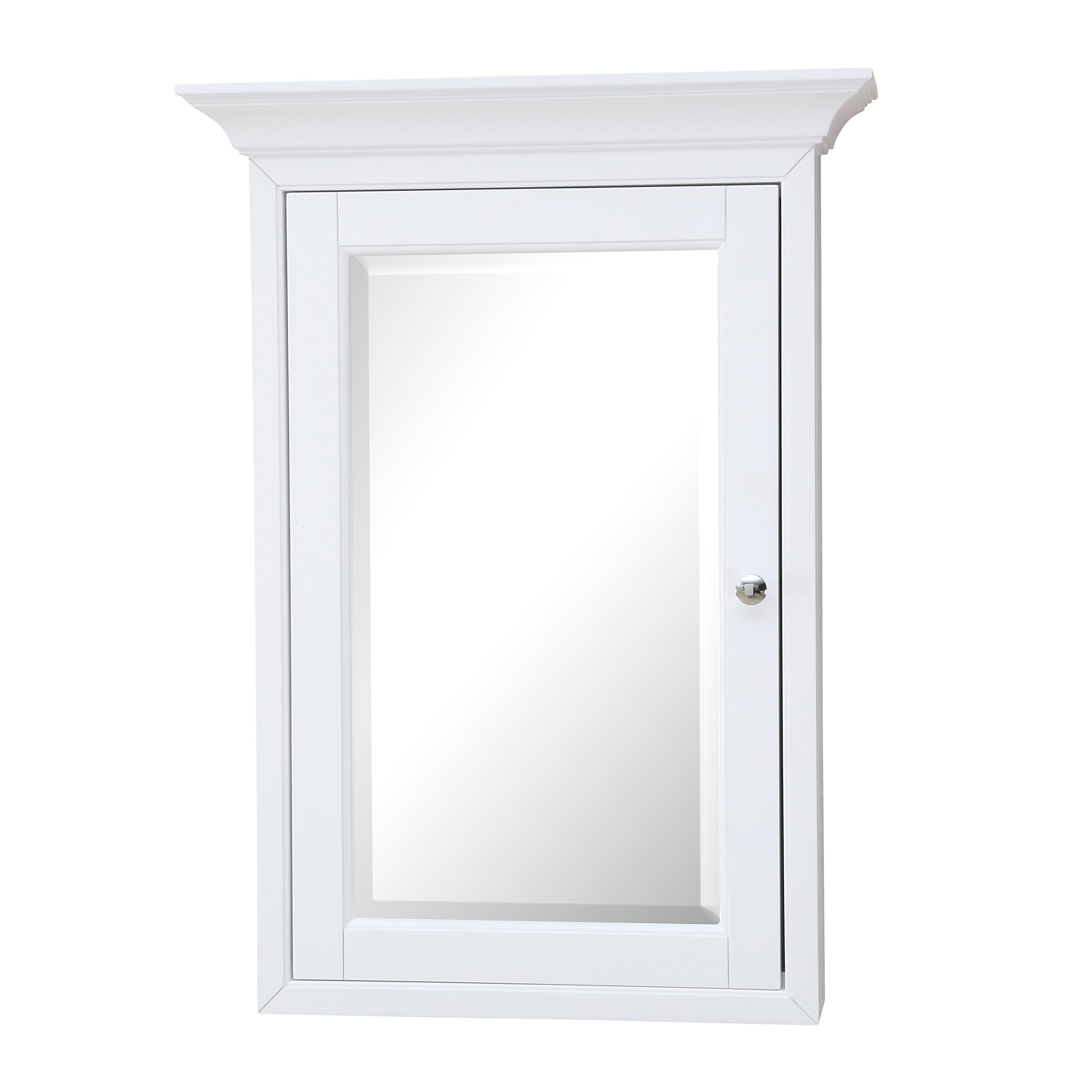 Newport Wall-Mounted Medicine Cabinet (White) by Kitchen Bath Collection