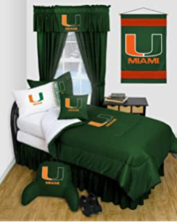 University Of Miami Hurricanes Dorm Bedding Comforter Set Part 92
