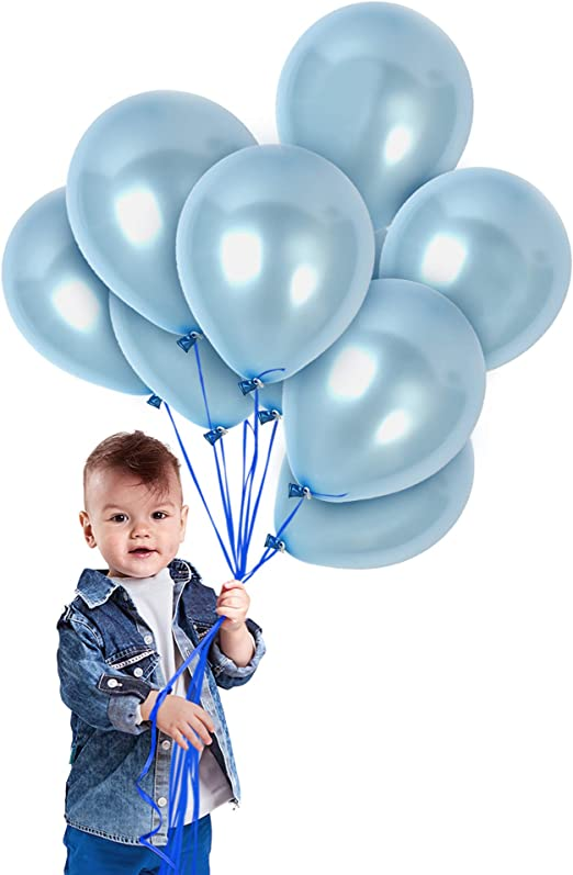 "10 x Baby 1st Birthday latex balloons 3.2g 12/"" pink girl blue boy gender neutral"