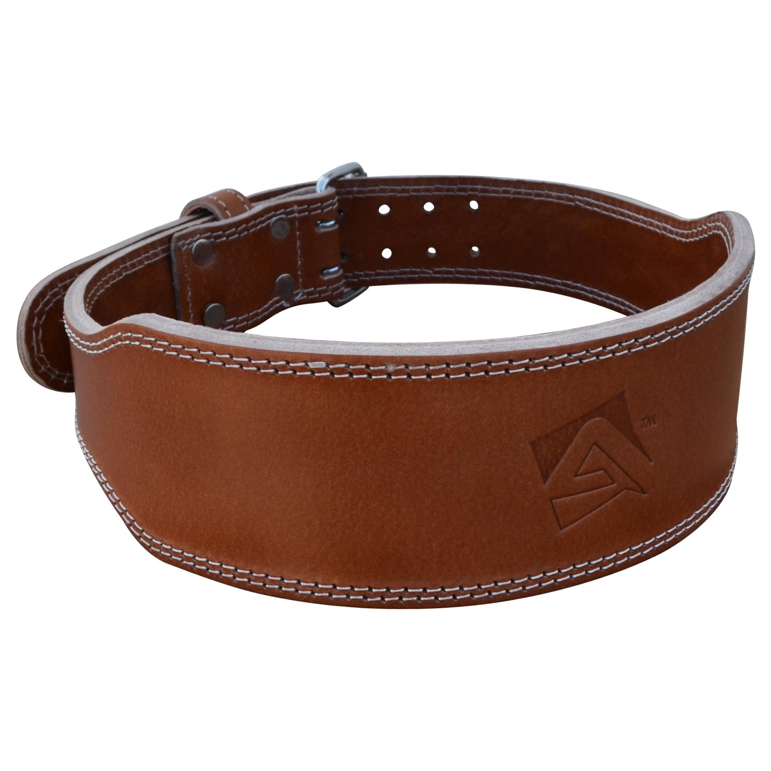 AQF Weight Lifting Belt Vegetable Tanned Cowhide Leather Belt Fitness Exercise Bodybuilding