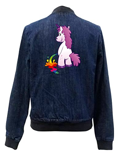 Peeing Unicorn Bomber Chaqueta Girls Jeans Certified Freak