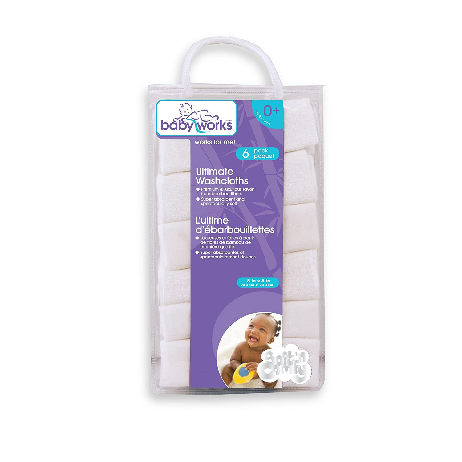 Baby Works Rayon from Bamboo Ultimate Washcloths 29329