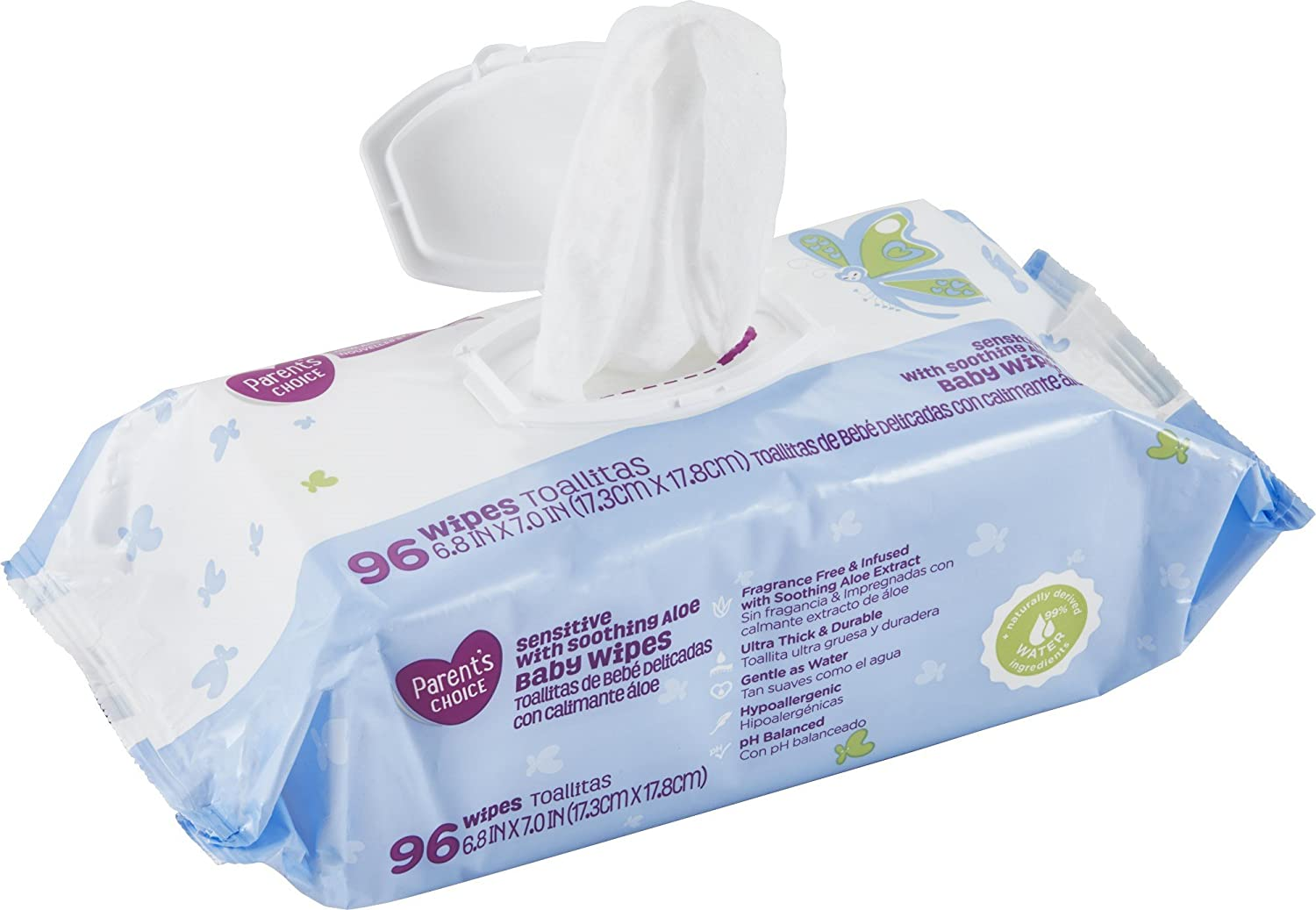 Amazon.com: Parents Choice Sensitive Aloe Baby Wipes (768 Count): Health & Personal Care