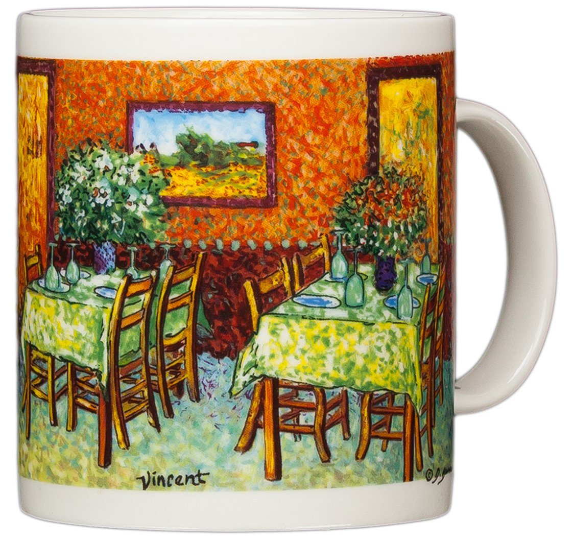Vincent Van Gogh - Restaurant Interiors - 14oz Coffee Mug