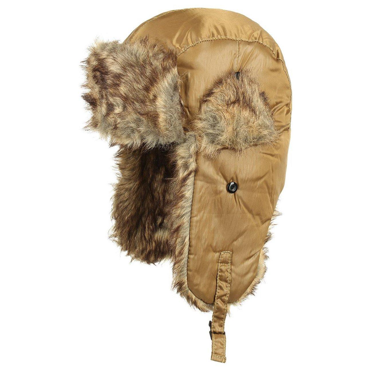 Keyone Ice Frozen Basic Fliegermütze glänzen Glanz Kunstfell Mit Futter