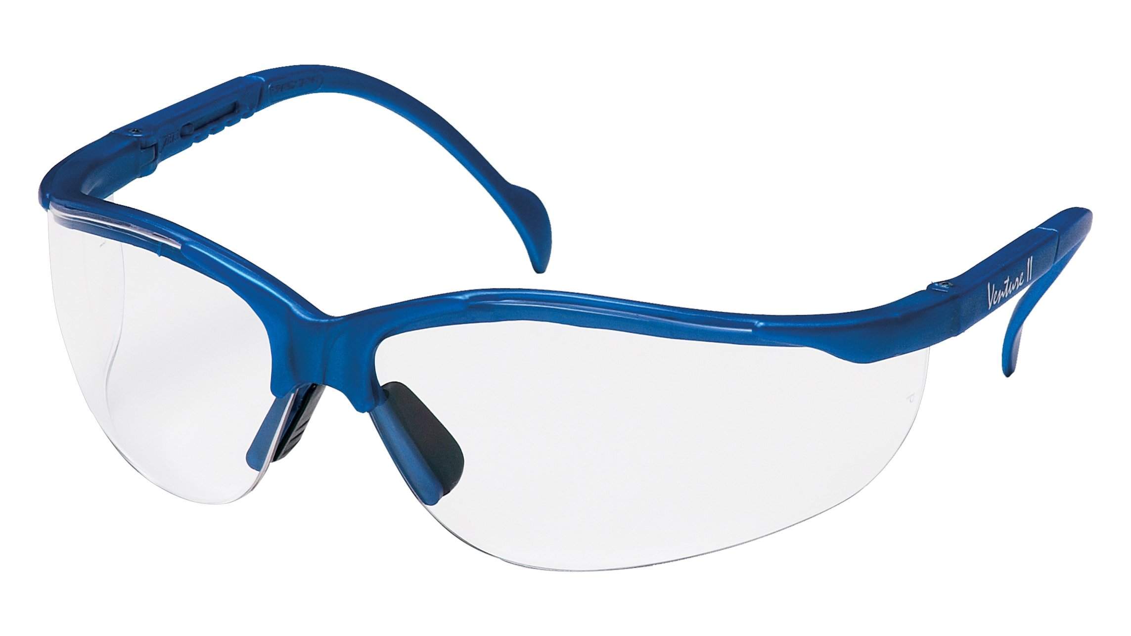 Pyramex Venture Ii Safety Eyewear, Clear Lens With Metallic Blue Frame by Pyramex Safety