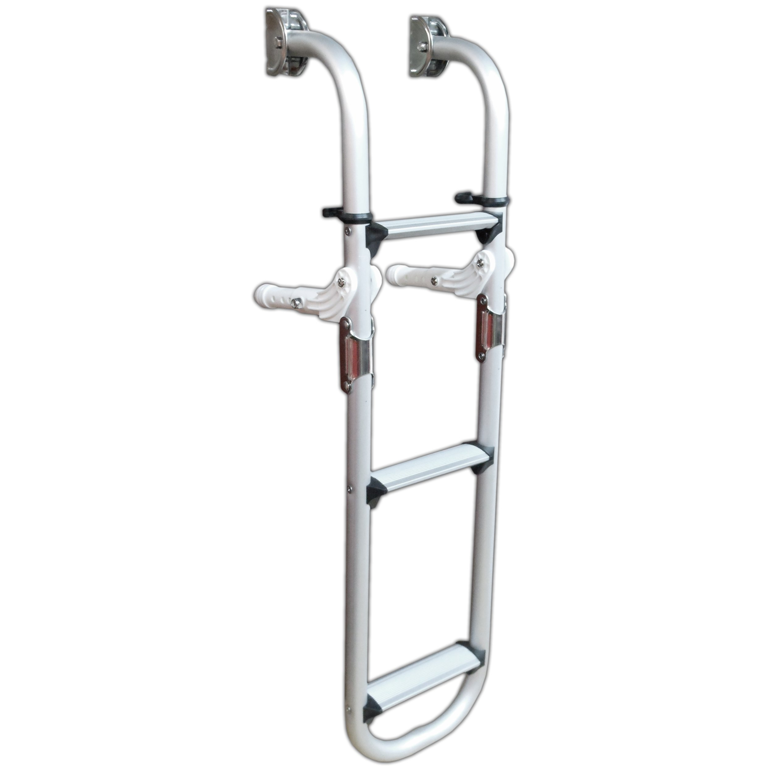 Five Oceans 3 Step Aluminum Folding Transom Ladder - BC 1868