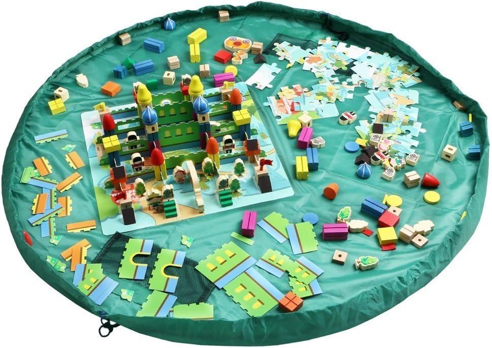 Cuby Bolso de almancenamiento para limpieza Organizador de juguetes para niños (Verde, 150 cm): Amazon.es: Juguetes y juegos