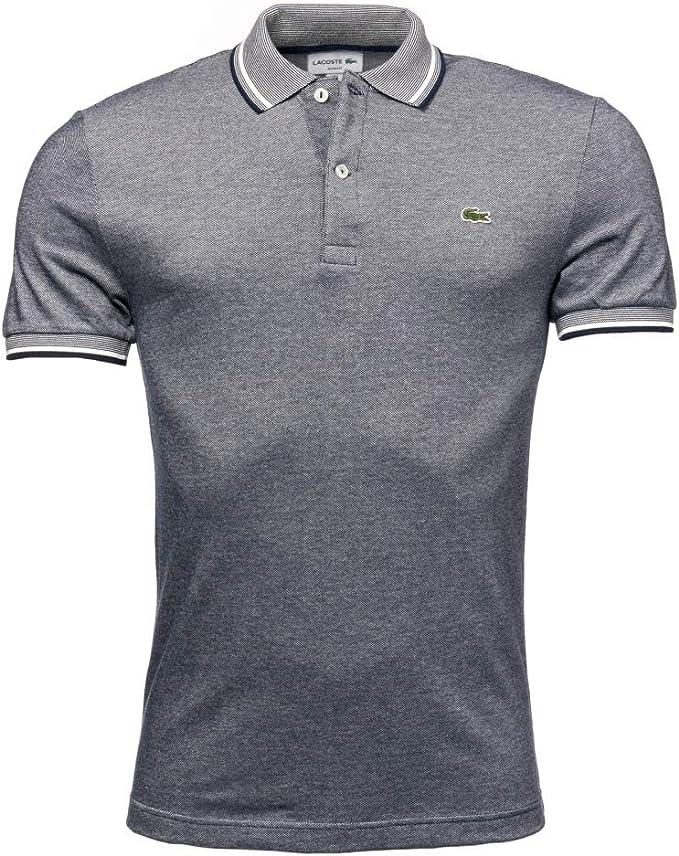 Lacoste Camisa de polo de hombre de Lacoste ph9433-00 Navy Blue ...