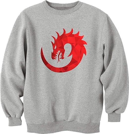 aea90f88200f Unisex Dragon Rouge Feu Ancienne Légende Sweat-Shirt Pull  Amazon.fr ...