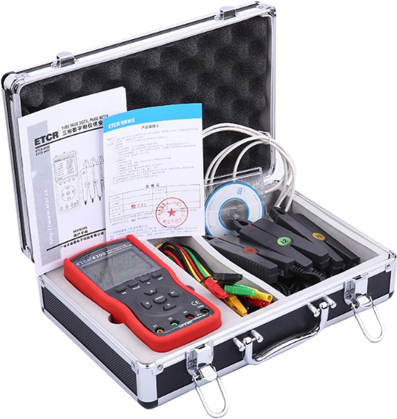 WXQ-XQ Portable Scientific Small tip current clamp Three Phase Meter Digital Volt-ampere Meter AC voltage current tester detector ETCR4300 Digital Clamp Meter