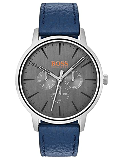 Hugo Boss Orange Reloj Multiesfera para Hombre de Cuarzo con Correa en Cuero 1550066